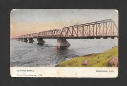 MONTRÉAL - QUÉBEC - VICTORIA BRIDGE - LE PONT VICTORIA - BY CANADIAN SOUVENIR POST CARD - Montreal