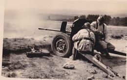 TIR DU CANON DE 75   COETQUIDAN 1938   PHOTO ORIGINALE - Army & War