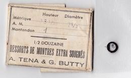 Horlogerie 1 Ressort Montre Extra Soigné A.Tena & G.Butty - Matériel