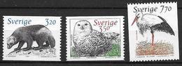 Suède 1997 N°1967/1969 Neufs Faune Arctique (glouton, Harfang Et Cigogne) - Nuevos