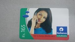 India-rim Prepiad Card-(50c)-(rs.165)-(navi Mumbai)-(31.3.2007)-(look Out Side)-used Card+1 Card Prepiad Free - India