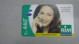 India-rim Prepiad Card-(50d)-(rs.440)-(navi Mumbai)-(31.3.2006)-(look Out Side)-used Card+1 Card Prepiad Free - India