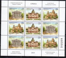 SERBIA , 2018, MNH,ARCHITECTURE,  SYNAGOGUES, JEWISH ACHITECTURE IN SERBIA, SHEETLET OF 3 SETS - Mosquées & Synagogues