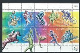 74656) -Australia- 2000 OLYMPIC Sports FOGLIO DI 10V. USATO - Blocchi & Foglietti