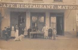 69 - Rhône / 10012 - Tarare - Carte Photo - Devanture Café Restaurant - à Situer - Sonstige Gemeinden