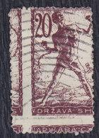 Yugoslavia State SHS Slovenia 1919 Chain Breakers (Verigari) Error - Moved Perforation, Used (o) Michel 103 - Ongetande, Proeven & Plaatfouten