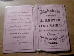 ALPHABETS VARIES A.ROUYER DESSINATEURS EN BRODERIE N°26 - Loisirs Créatifs