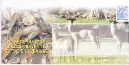 Entier Postal De La 7ème Fête Du Cerf , De La Crevette Et De L'écrevisse à BOULOUPARIS En Nouvelle Calédonie - Briefe U. Dokumente