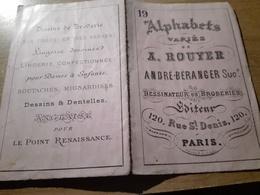 ALPHABETS VARIES A.ROUYER DESSINATEURS EN BRODERIE N°19 - Loisirs Créatifs