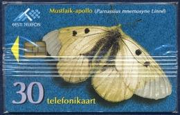 ESTONIA - ESTLAND - ESTONIE 30 UNITS CHIP PHONECARD TELECARTE BUTTERFLY MUSTLAIK-APOLLO 1998 MINT SEALED - Estonia