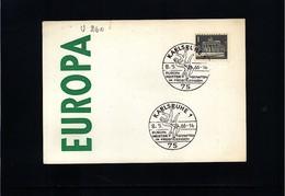 Germany / Deutschland 1966 Karlsruhe Europa Free Wrestling Championship Interesting Cover - Ringen