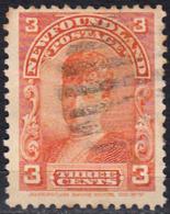 CANADA ISLA DE TERRANOVA   SELLO AÑO 1891 QUEEN ALEXANDRA 3 CENTS - Usados