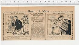 2 Scans Humour De 1913 Son (de Blé Céréales Sac) Du Piano Thème Accordeur Facteur De Piano Musique Sérénade 223XF - Vieux Papiers