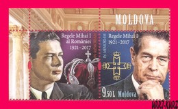 MOLDOVA 2018 Famous People Personalities Royalty Royals Last King Of Romania Mihai I (1921 – 2017) 1v+ Mi1072 Sc1008 MNH - Moldova