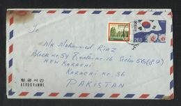 Korea 1984 Air Mail Postal Used Aerogramme Cover Korea To Pakistan - Korea (...-1945)