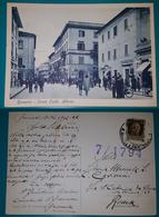 Cartolina Grosseto - Corso Carlo Alberto. Viaggiata 1942 - Grosseto