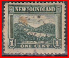 CANADA ISLA DE TERRANOVA   SELLO AÑO 1923-24   —  1 CENTS TWIN HILLS, TOR'S COVE - 1911-1935 Reinado De George V