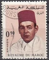Maroc 1968 Michel 602 O Cote (2005) 0.15 Euro Hassan II Cachet Rond - Maroc (1956-...)