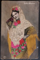 HC - ESPAÑA Spain Artist SOFIA PALACIOS - BEAUTY ART EMBROIDERED POSTCARD - V. L. Sevilla # 156/3 - Artistes