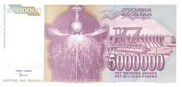 YUGOSLAVIA P. 121 5.000.000 D 1993 UNC - Joegoslavië