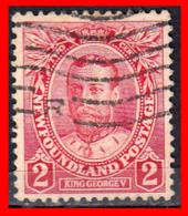 CANADA ISLA DE TERRANOVA  SELLO AÑO -1911   —  2 CENTS GEORGE V - 1903-1908 Reinado De Edward VII