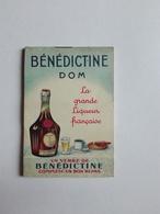 BENEDICTINE DOM LA GRANDE LIQUEUR PETIT CARNET 1938 - Publicités