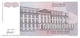 YUGOSLAVIA P. 125 500.000.000 D 1993 UNC - Jugoslavia