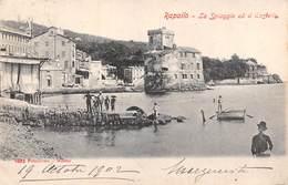 Rapallo - La Spiaggia Ed Il Castella - Italie - Italy