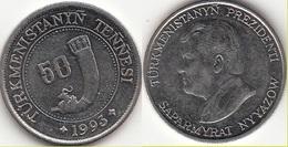 Turkmenistan 50 Tenge 1993 KM#5 - Used - Turkmenistán
