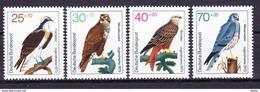 Duitsland West 1973 Nr 604/07 **, Roofvogels Zeer Mooi Lot Krt 3152 - [7] République Fédérale