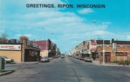 Wisconsin Greetings From Ripon Showing Watson Street - Greetings From...