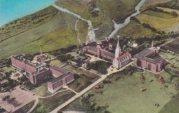 South Dakota Yankton Aerial View Sacred Heart Convent & Hospital Handcolored Albertype - Etats-Unis