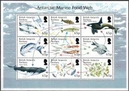 British Antarctic Territory 2014 Marine Food Feuillet Neuf ** - Territoire Antarctique Britannique  (BAT)
