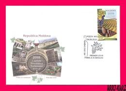 MOLDOVA 2018 Nature Flora Fruits Grape Vineyard Viniculture World Capital Of Wine Tourism Mi 1061 Sc997 FDC - Wines & Alcohols