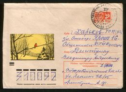 Russia USSR 1971 Stationery Cover Fauna, Birds, Bullfinch - Moineaux