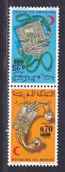 MAROC N°  744A ** MNH Neufs Sans Charnière, TB (D8005) Paire Tête Bêche, Croissant Rouge Marocain - 1975 - Morocco (1956-...)