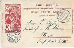 162 - 72 - Entier Postal UPU Avec Cachet à Date Frauenfeld 1900 - Entiers Postaux