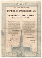 Obligation Ancienne - Ville De Bruxelles - Titre De 1925 - - A - C