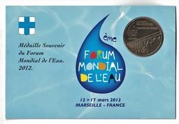Encart Monnaie De Paris 13.Marseille Forum Mondial De L'eau N°2 L'Aqueduc 2012 - Monnaie De Paris
