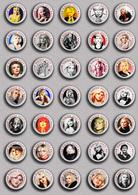 35 X Blondie Band-Deborah Harry Music Fan ART BADGE BUTTON PIN SET 6 (1inch/25mm Diameter) - Music