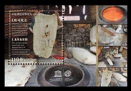 Armenia 2017 Mih. 1054 (Bl.87) UNESCO World Heritage. Gastronomy. Bread. Lavash MNH ** - Armenia