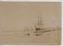 Flandre Occid.-Tempête Du 30/ 9 Au1/10 1911 Mer Du Nord.Bateaux  échoués Sur La Côte Belge-Phot. 155x135. - Bateaux