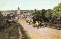 Grand Prix De L'ACF - 1906 - Circuit De La Sarthe -  Entree Dans Connerre  -   CPA - Le Mans