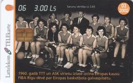 Latvia, D-057,  Basketball-6, 2 Scans. - Lettonie