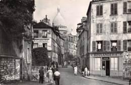 75 - PARIS - Rue Narvino Et Basilique Du Sacré-Coeur De Montmartre - Openbaar Vervoer