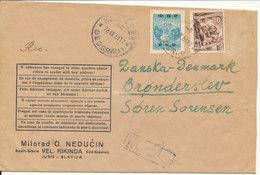 Yugoslavia Registered Cover Sent To Denmark Beograd 28-9-1951 - 1945-1992 Socialist Federal Republic Of Yugoslavia