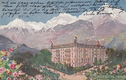 MERAN-MERANO-BOZEN-BOLZANO-HOTEL=SAVOY HOTEL=CARTOLINA VIAGGIATA IL 5-5-1912 - Merano