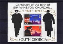 74683)  Georgia Del Sud 1974 Centenario Della Nascita Di Sir Winston Churchill Min Fogli...-MNH**- - Géorgie Du Sud