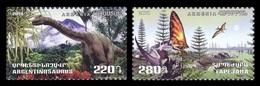 Armenia 2018 Mih. 1091/92 Flora And Fauna Of The Ancient World. Dinosaurs. Argentinosaurus And Tapejara MNH ** - Armenia