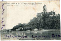 - St-FORENT LE VIEiL - ( M Et Lo ), La Grotte Couverte De .., Barque, Pêcheurs, épaisse, écrite, BE, Scans. - Autres Communes